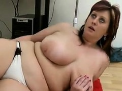 Horny Mother Plays With Herself In The Office