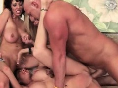 Sex expert cougars going hardcore in gangbang