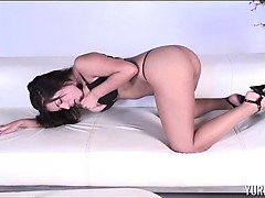 Yuri Luv's Huge Tits in a Blue Dress