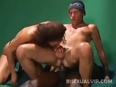 Bisexual Anal Threesome