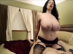 WHOA! Busty Busty Cougar Rides Cock