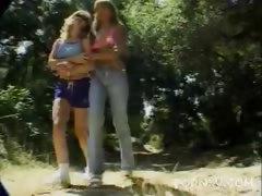 Lesbian Pornstars Outdoor Striptease