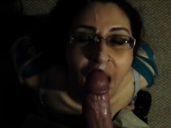 Horny Amateur chick blowjob and facial