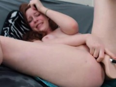 Sex machine deep fucking redhead milf with hairy pussy