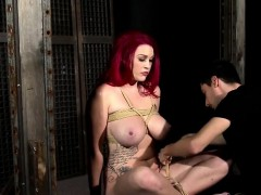 sleek fetish anal actions with latex and bdsm