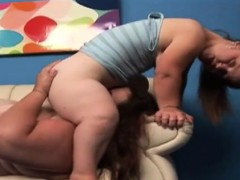 BBW eating midget cunt