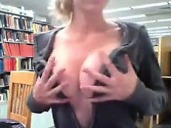 Schoolgirl Flashing In Public At The Library