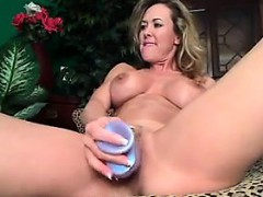 Horny MILF Loving Her Dildo