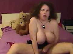 Slut With Big Breasts Masturbates