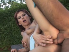 Horny Old Redhead Anal Fucked And Swallows Cum With Wine