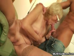 Worn out granny pussy fucked hard