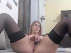 Cute Lesbian Babe Pussy Tease on Webcam