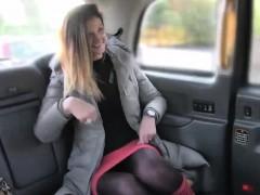 Sexy long legged babe Eva fucking on the back of the seat