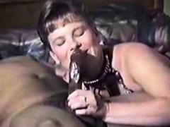 Adult milf likes hard dark cock fucking and sucking