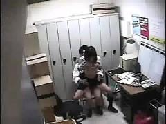 Schoolgirl fucked at lockerroom in college