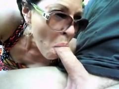 car blowjob from granny