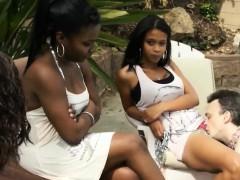 Ebony Babes Get Oral