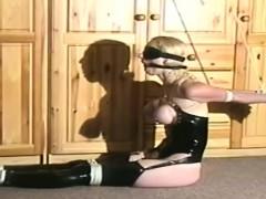 Blonde Slut Masked Boobs Bondage Maledom Latex