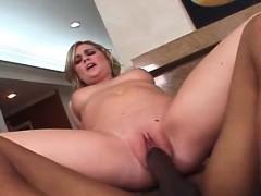 Fine ass blonde doing a giant black stiffy