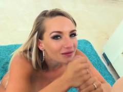 Busty Blonde Goddess Cali Carter Shows Her Deepthroat Skills