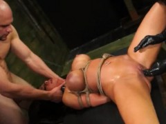Threesome With Big Dick And Bisexual Slut