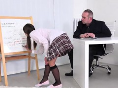 Nice College Girl Was Tempted And Poked By Her Elder Tutor