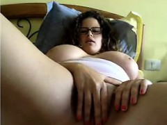 Gorgeous Puffy Busty Woman Masturbates On Chatroulette
