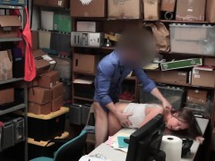 Shoplifter Gags On Security Officers Big Dick