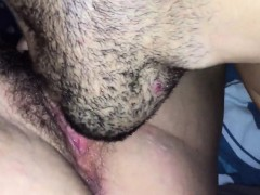Licking Her Hairy Pussy - Amateur Pov