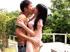 Japanese Petite Pussyfucked Outdoors After Bj