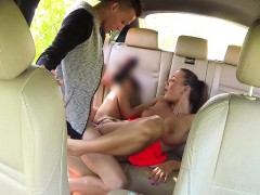 Teens banging on backseat of taxi