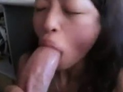 Asian Girl Is Sucking A Great Big Cock In Her Mouth