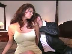 Asian babe fucking with husband