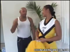 Big Ass Cheerleader Stripping