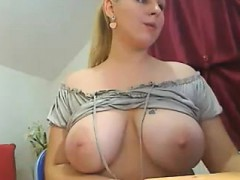 The beautiful blonde with big boobs