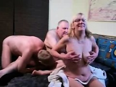 Mature Blonde In Hot Bisexual Threesome