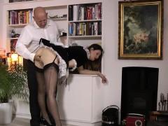 British Maid Rubs Herself