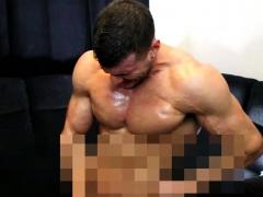 Muscleman Eat Own Cum
