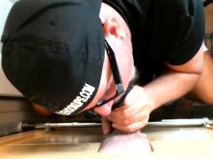 Construction Dad Cums At Gloryhole