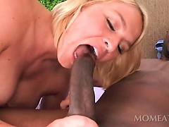 Outdoor sex video with hot blonde and monster black dick