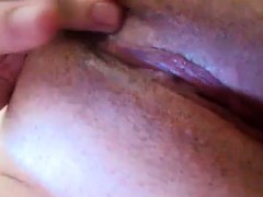 Close Up Of Her Wet Pussy Being Fingered