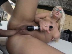 Horny Blondie Fesser needed some cock to fuck