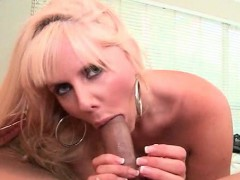 Blonde mom eats cock and gets slit pumped