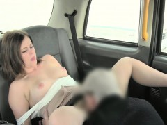 Fucking and lot of creampie in the fake taxi
