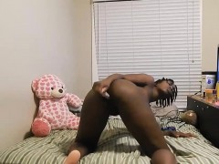 Ebony Chick With An Adult Toy