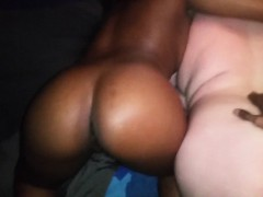 White chick on a trio with a black couple