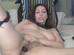 Big Titty MILF Rubs Pussy on Webcam