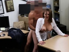 Busty amateur brunette woman gets pounded for a plane ticket