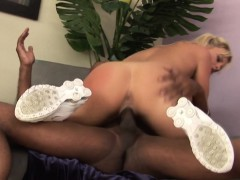 Teen rides black dick