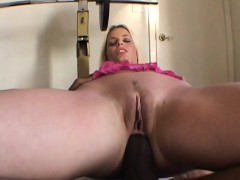 White girl tries a black dick in her ass
